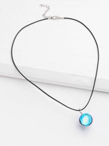 glass ball design luminous pendant necklace