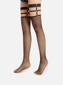Thigh High Fishnet Garter Socks