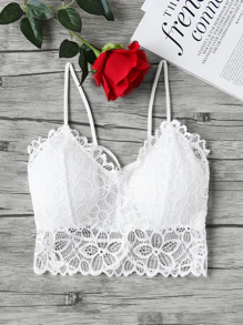 Strappy Detail Backless Lace Bralet