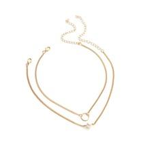 SHEIN | Faux Pearl And Ring Design Chain Choker Set 2pcs | Goxip
