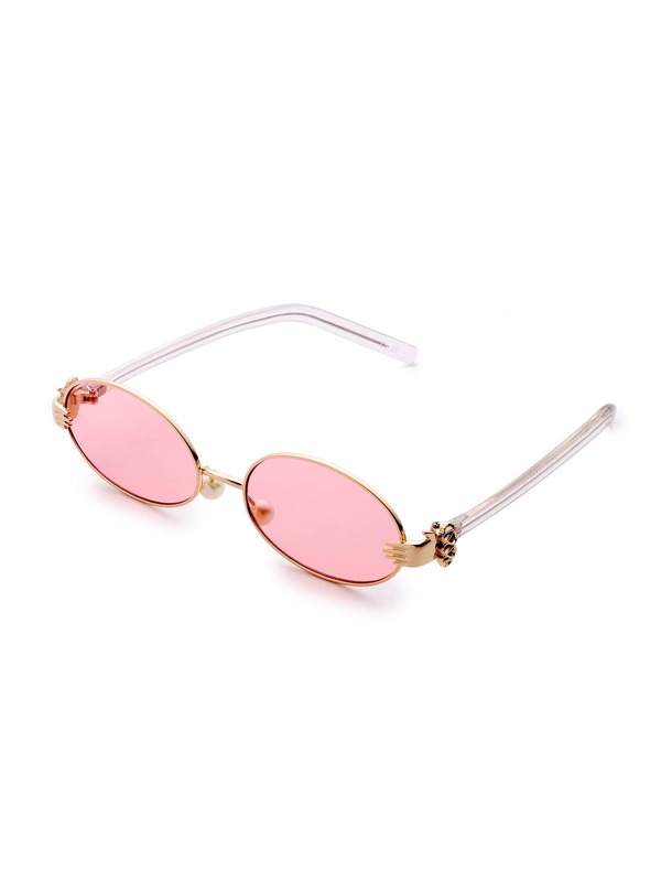 4d0c2cf689 Tinted Lens Oval Sunglasses