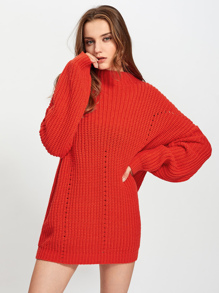 Exaggerate Long Sleeve Eyelet Detail Jumper