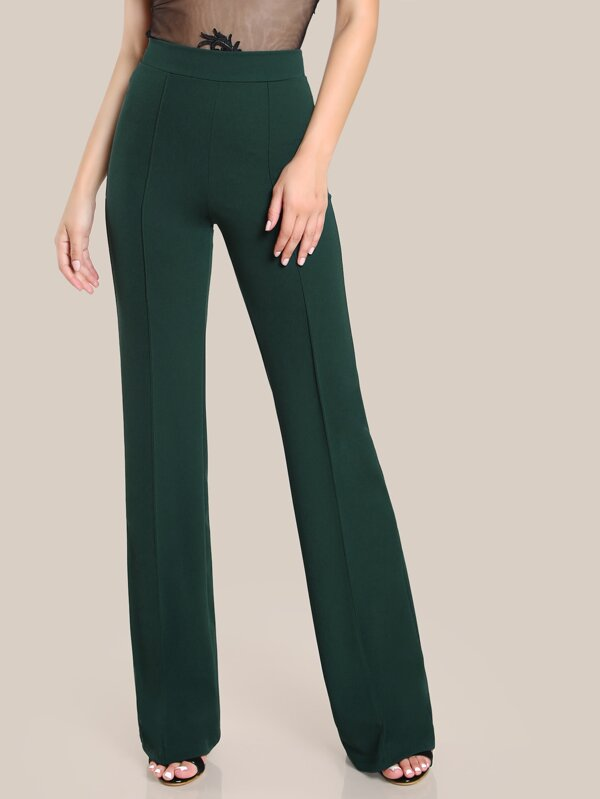 476e149bfb High Rise Piped Dress Pants | SHEIN