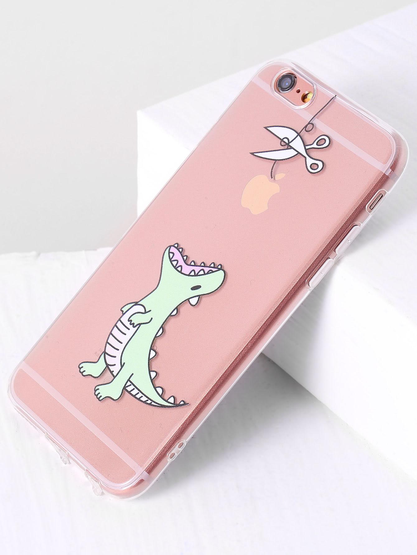 Dinosaur Print Cute iPhone Case -SheIn(Sheinside)
