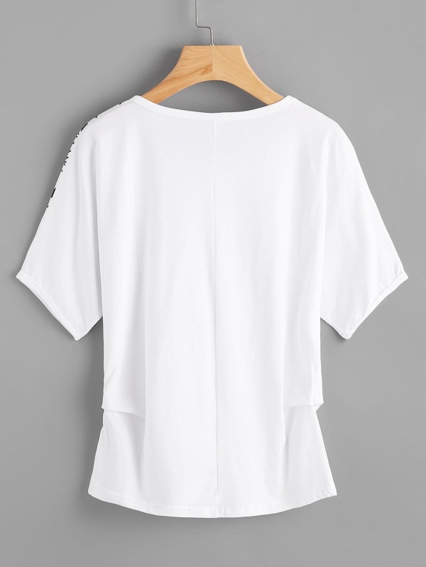 a9fa95191 Aztec Print Dolman Sleeve T-shirt | SHEIN