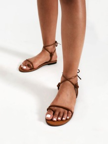Knot Design Toe Ring Flat Sandals
