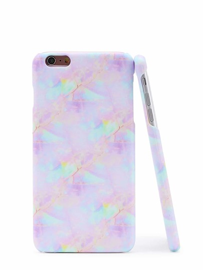 Iridescent Marble Print iPhone Case