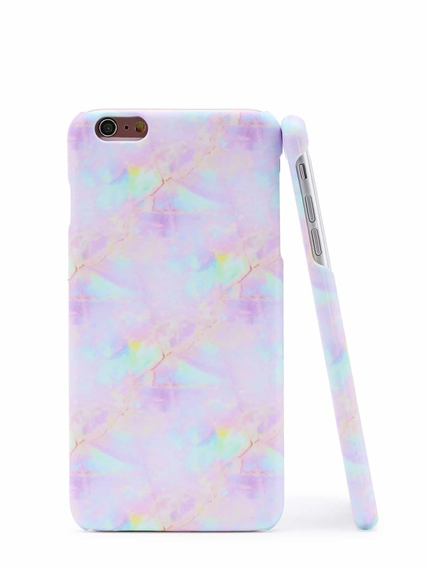 704b765ccb Iridescent Marble Print iPhone Case | SHEIN