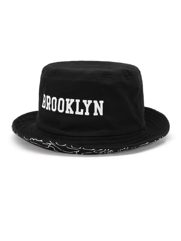 Slogan Embroidery Bucket Hat -SheIn(Sheinside) 7aa2ec27d40