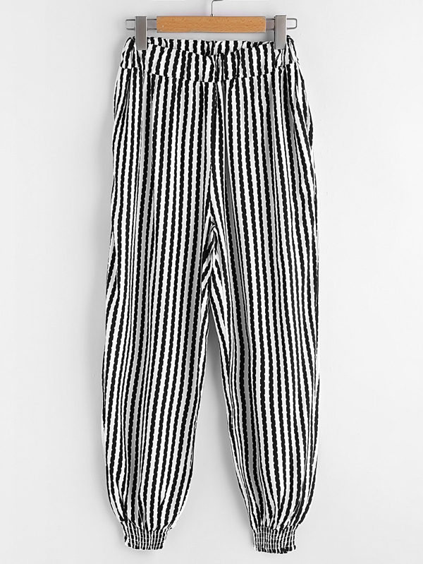 741570647cb0 Striped Harem Pants | SHEIN