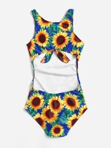9996b970eb3 Cheap Sunflower Print Scoop Neck Swimsuit for sale Australia | SHEIN
