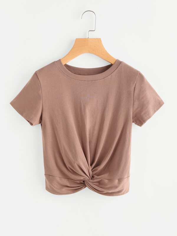 63a05561b94ba Twisted Front Crop T-shirt