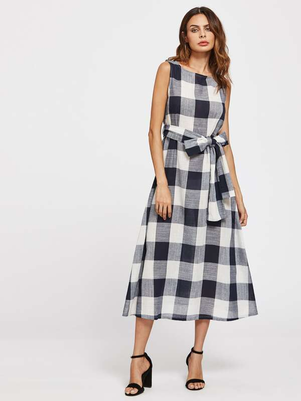 678af8cafe Cheap Self Tie Checked Dress for sale Australia