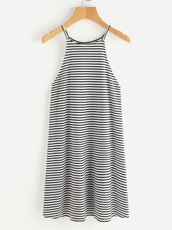 Cami Kleid mit Streifen - German SheIn(Sheinside)