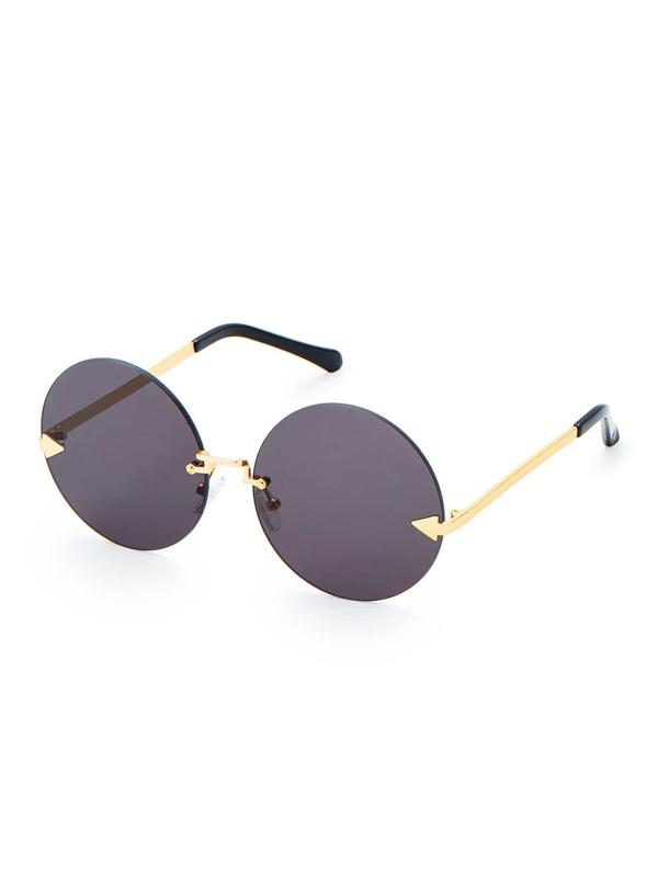 705ad48998 Round Lens Rimless Sunglasses -SheIn(Sheinside)