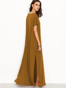 4d295bcc7f Side Split Maxi Tee Dress | SHEIN