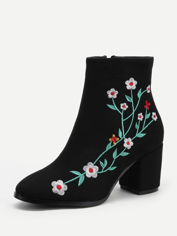 bfcdac500e3 Cheap Embroidered Flower Block Heeled Ankle Boots for sale Australia ...