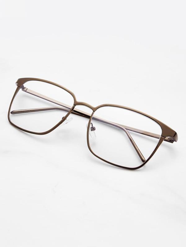 7268b45e820d6 Skinny Frame Square Glasses