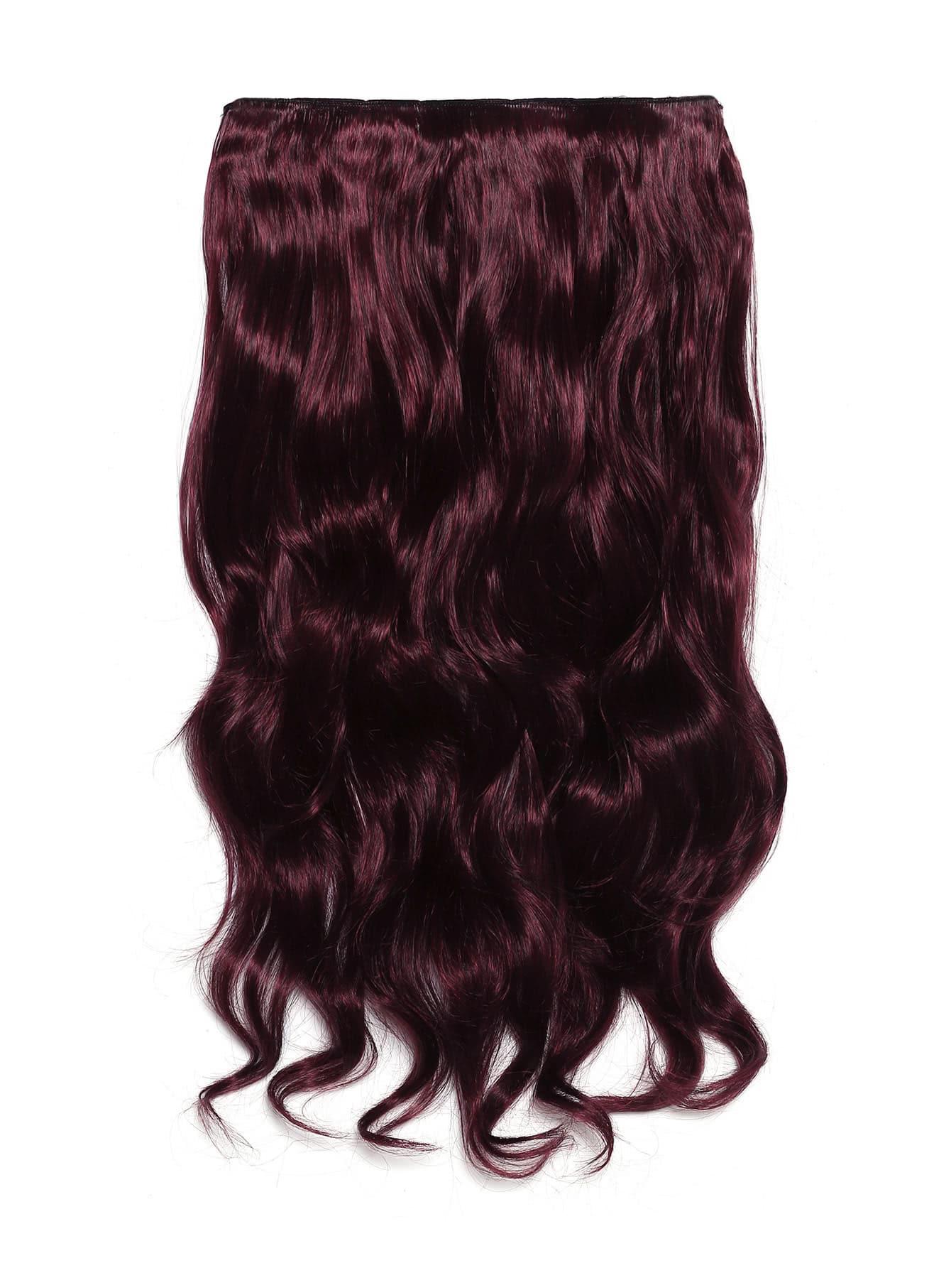 extension de cheveux rouge bordeaux souple en forme de vague french romwe. Black Bedroom Furniture Sets. Home Design Ideas