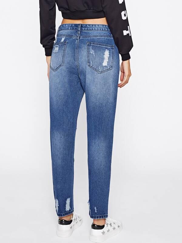 d24214ba7 بنطلون جينز ممزق ضيق مبيض | شي إن