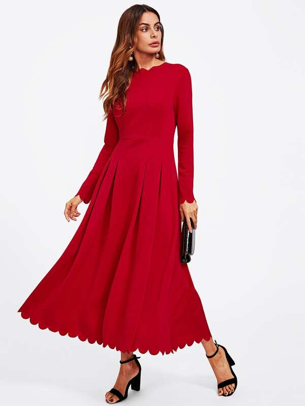 Fit and Flare Dress with Sleeves