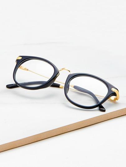 a2818a1c6 نظارات اطار اسود عدسات صافيه | شي إن