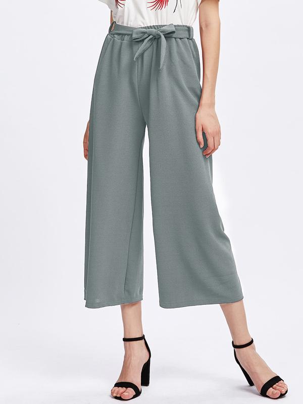 Pantalons Culotte Pantalons Culotte Avec Une Une Ceinture Avec Culotte Pantalons Ceinture LAc35RjqS4