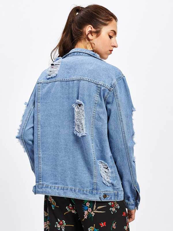 bffaa9516a Ripped Denim Jacket