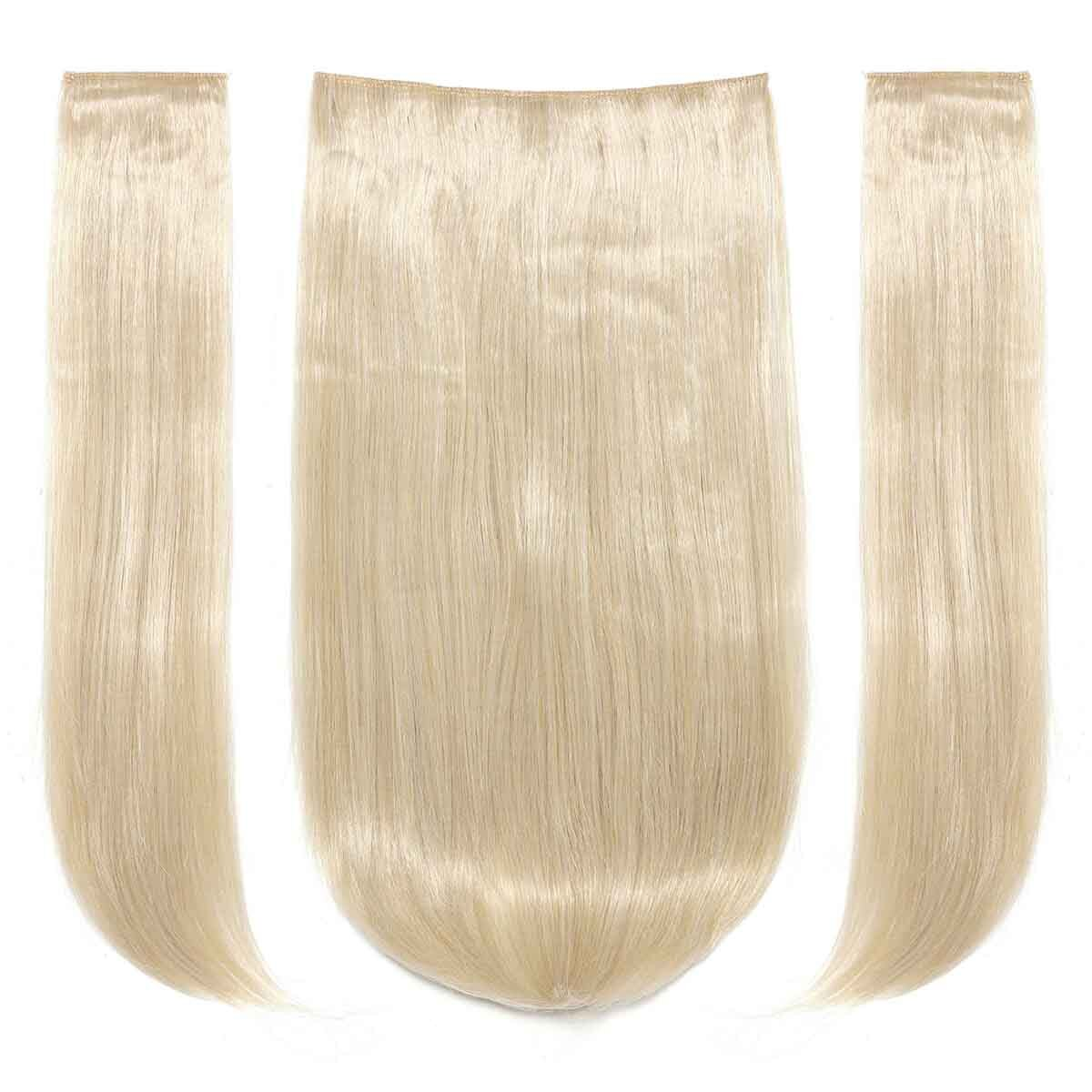 - Light Blonde Clip In Straight Hair Extension 3pcs