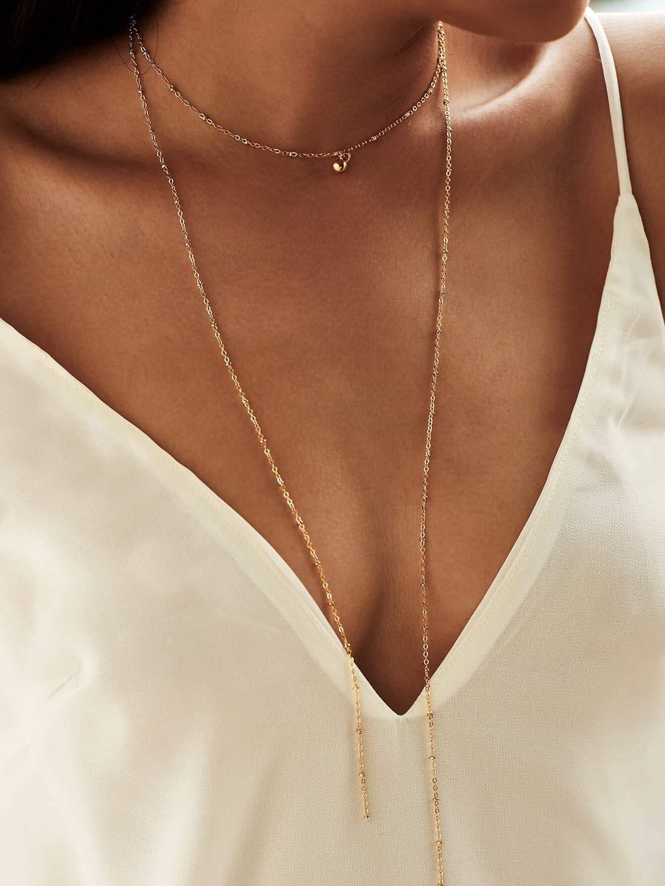 Layered Chain Choker Necklace EmmaCloth-Women Fast Fashion ...