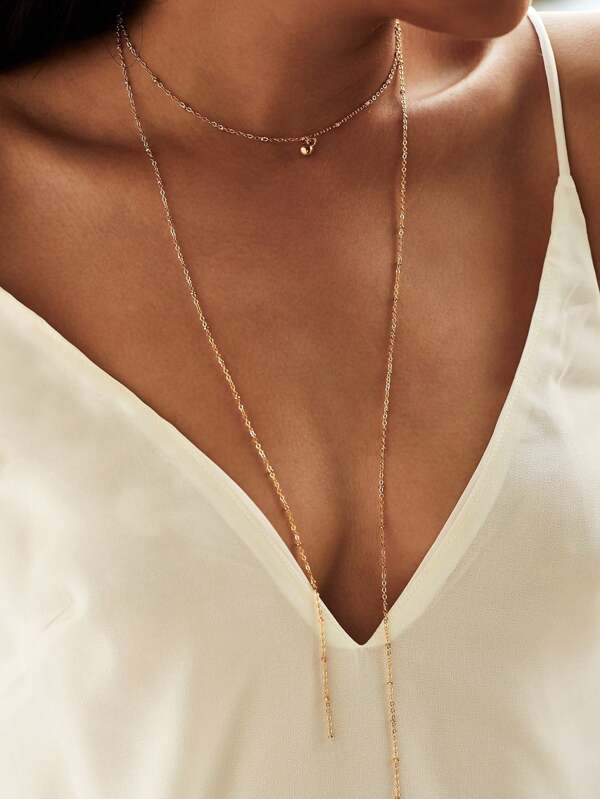 0c79be3824 Layered Chain Choker Necklace | SHEIN