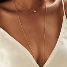 - Layered Chain Choker Necklace