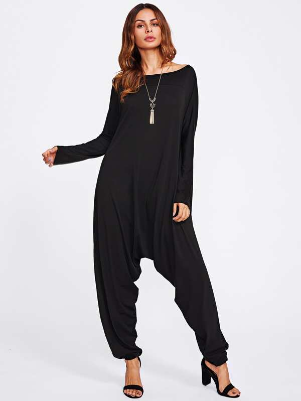 23fa6d5dc83 Drop Crotch Jersey Jumpsuit