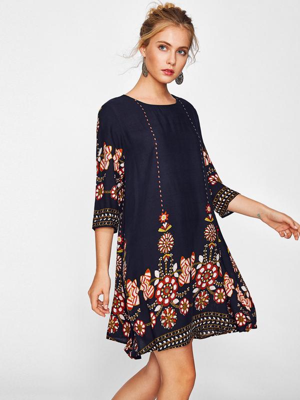 3186460e9f Cheap Flower Print Swing Dress for sale Australia | SHEIN