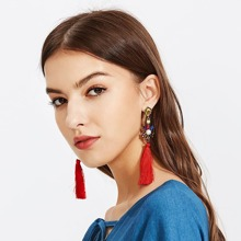 Tassel Drop Earrings With Jewelry