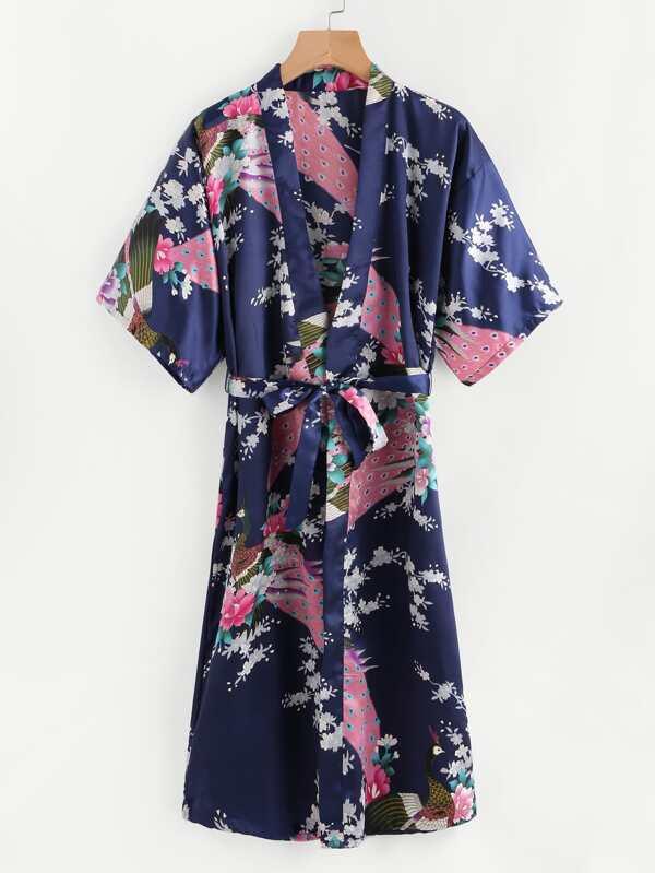 cb6e2d3fe6 Cheap Self Tie Longline Satin Kimono Robe for sale Australia