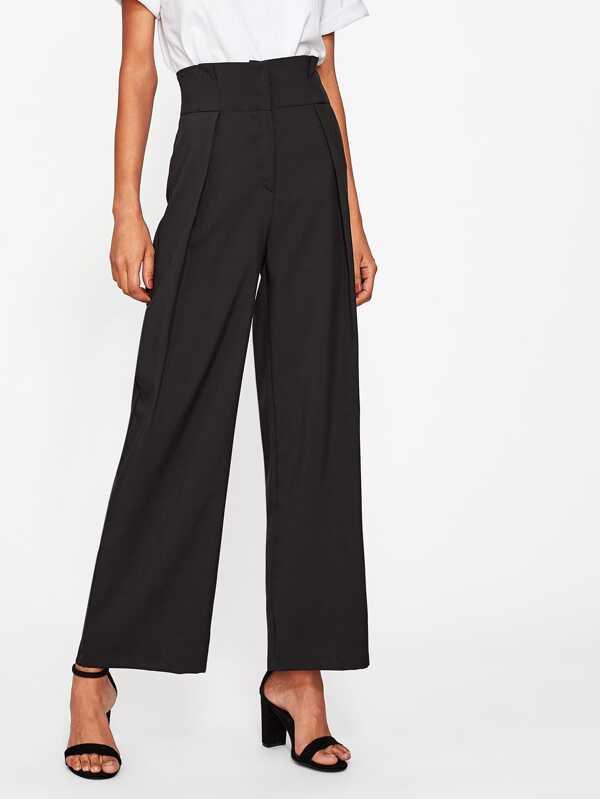 18fbe4bd1d High Waist Wide Leg Pants   SHEIN