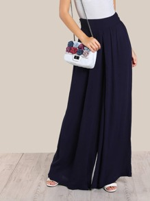 High Rise Super Wide Leg Pants
