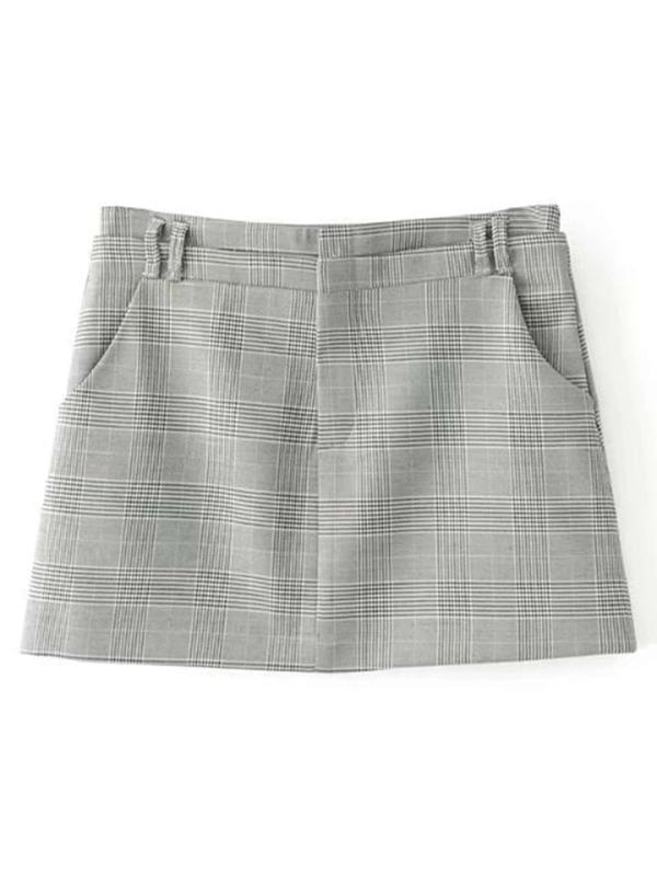 b69b550ba Grid Mini Skirt | SHEIN