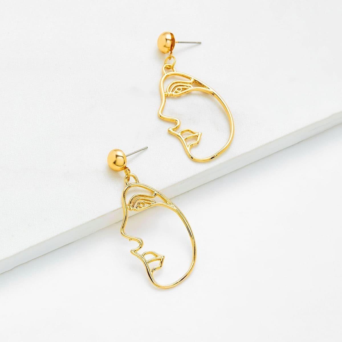 - Open Face Drop Earrings