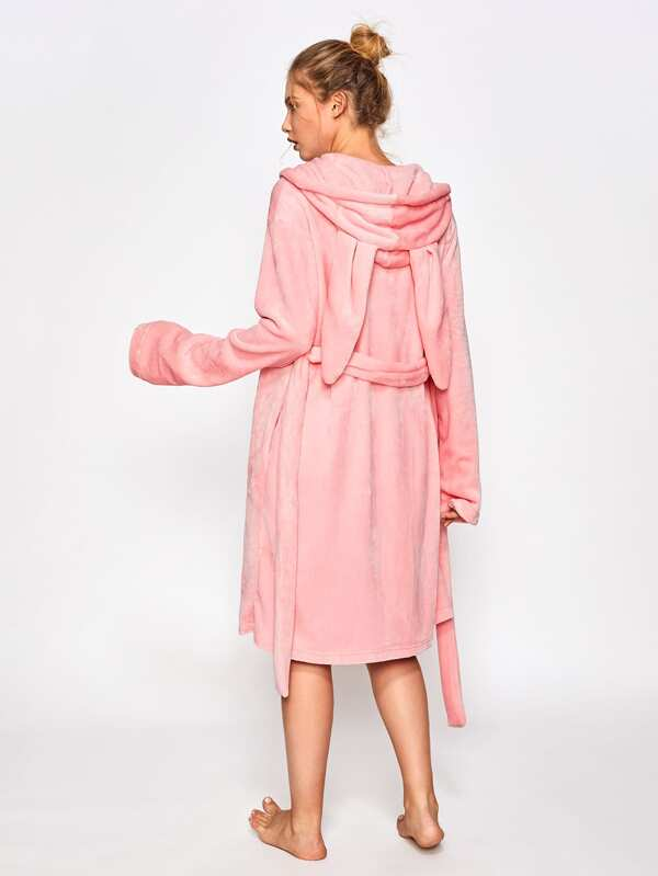 0e4a1b6248 Rabbit Ear Hoodie Self Belted Bathrobe. AddThis Sharing Buttons