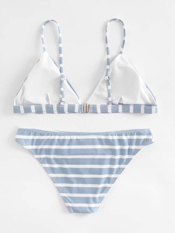 1938e5fc07 Striped Triangle Bikini Set