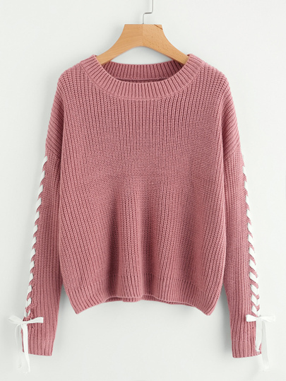 Contrast Whipstitch Detail Sweater