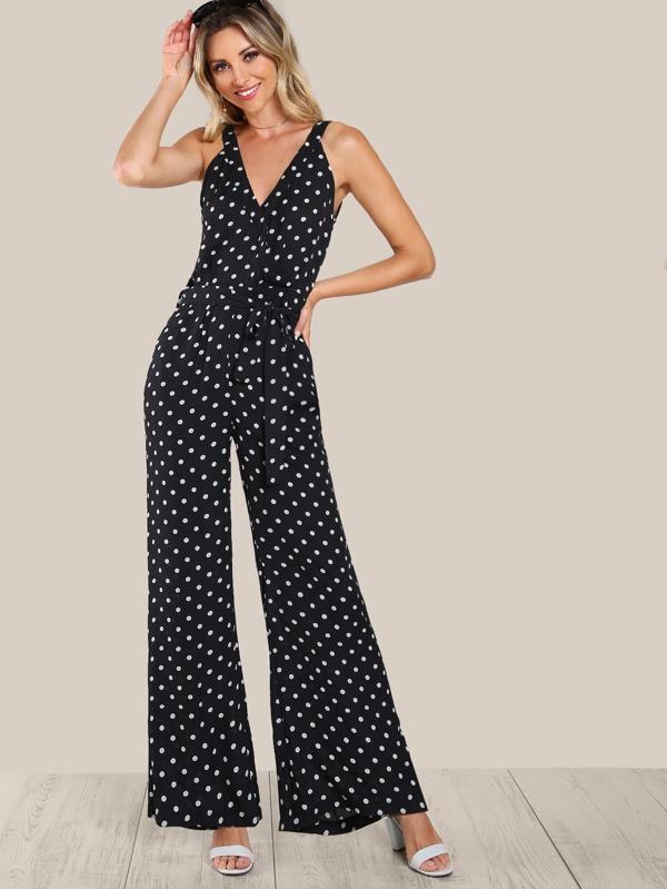 Polka dot jumpsuit consider