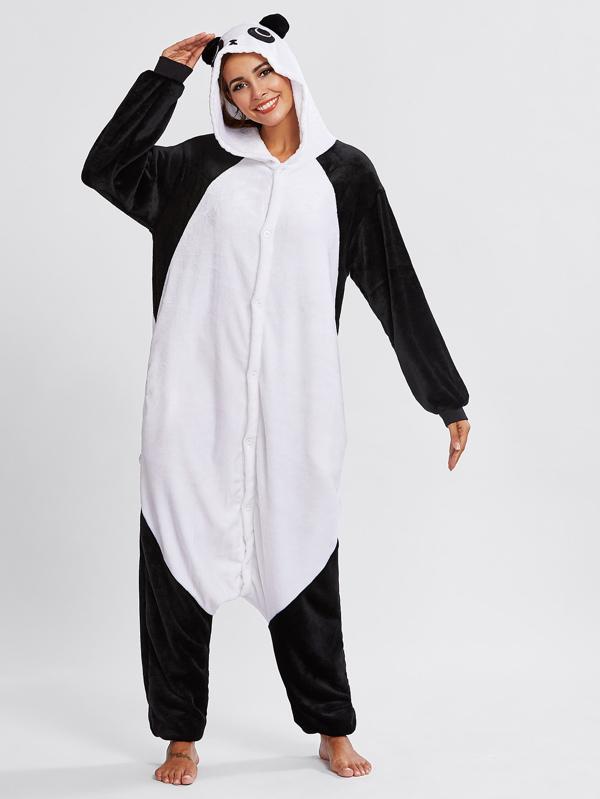 comprare popolare a8ca4 e360f Tuta intera pigiama a forma di panda
