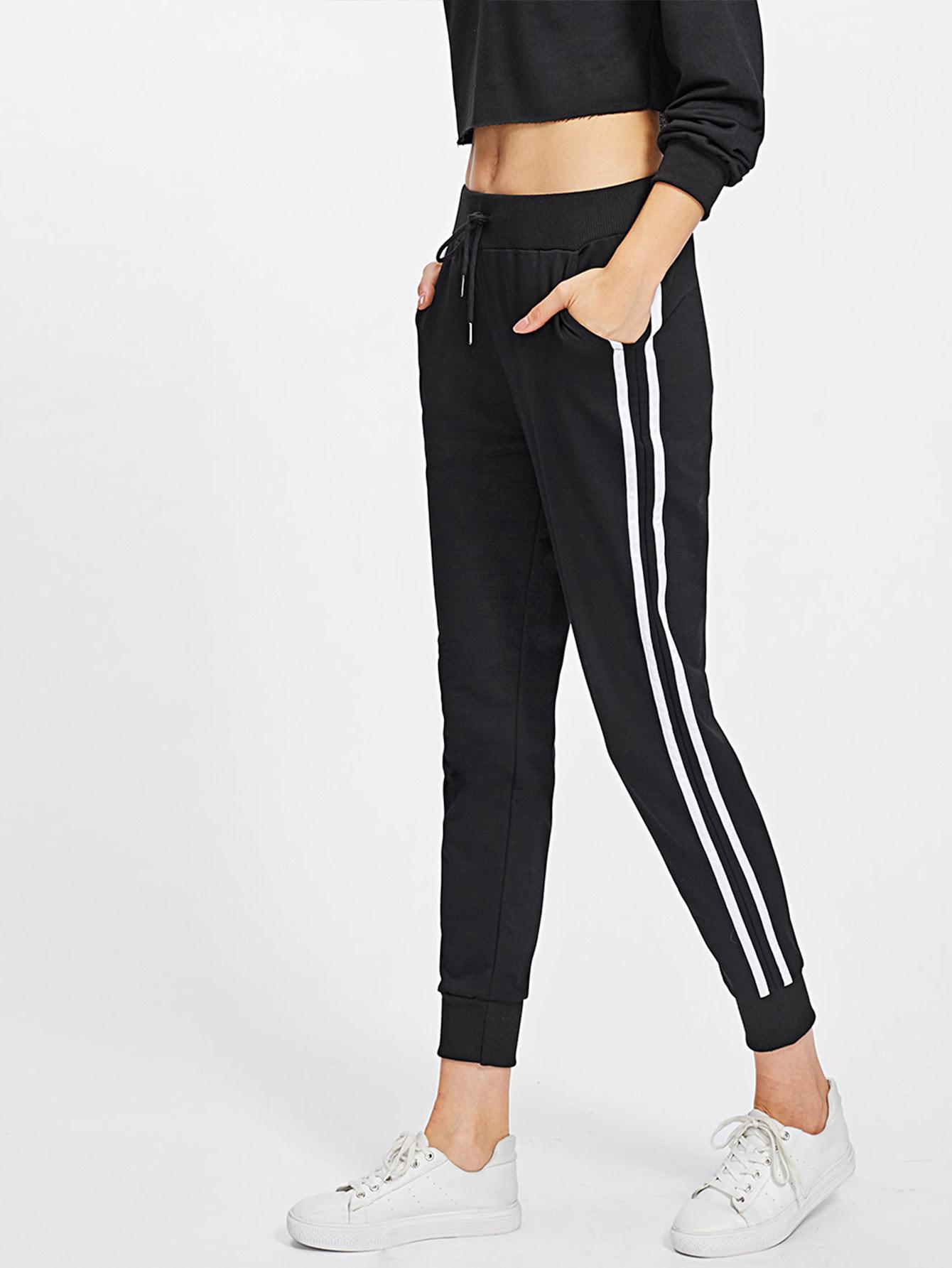 Sweat-pantalons avec bande de rayure