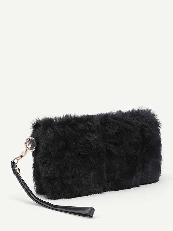 3ef2f42232 Faux Fur Design Clutch Bag