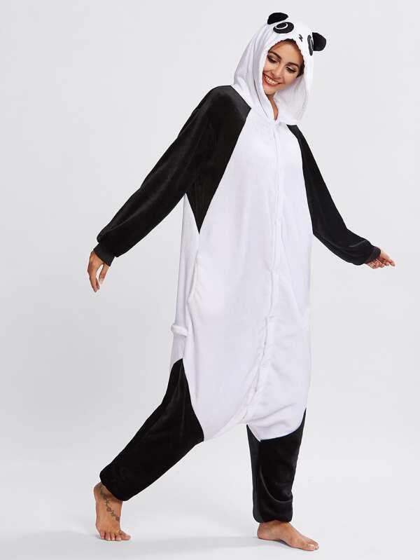 5d92d01d Mono de pijama con diseño panda de entrepierna caída