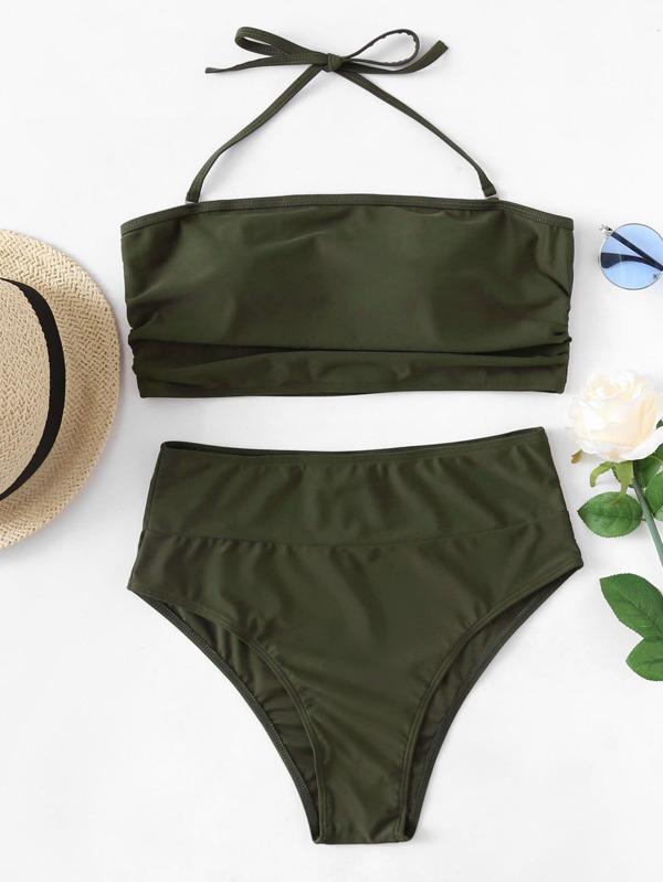 def47244c6 High Waist Bandeau Bikini Set