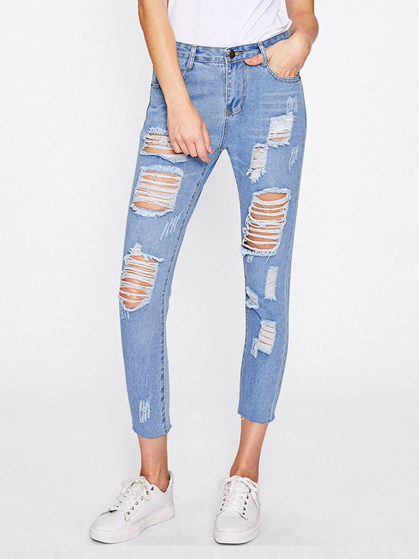 b33277cdbe78 Extreme Distressing Jeans | SHEIN